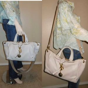 Bally Gray Leather Tote Crossbody handbag